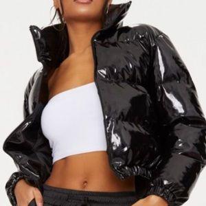 Puffer cropped Vinyl jacket